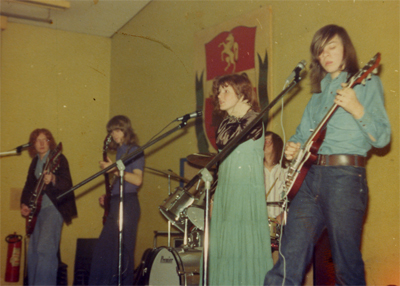 The Band Orpheus - Me With Double Neck Guitar and Problem Hair (far Left)